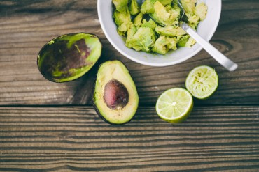 Guacamole Arrangement with Avocados and Lime